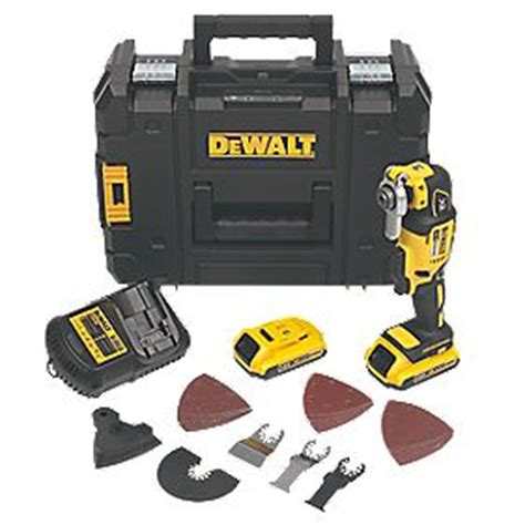 Dewalt Dcs355d2 Kr Li Ion Brushless Multi Tool dewalt dcs355d2 gb 18v 2 0ah li ion xr brushless cordless multi tool multi tools screwfix