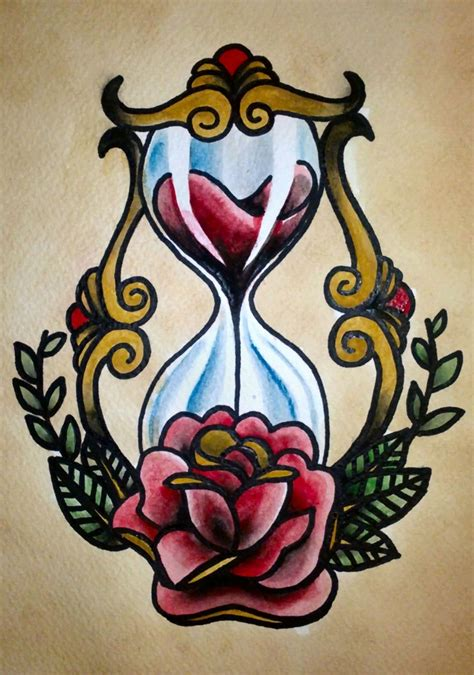hourglass rose tattoo 17 best images about ideas on