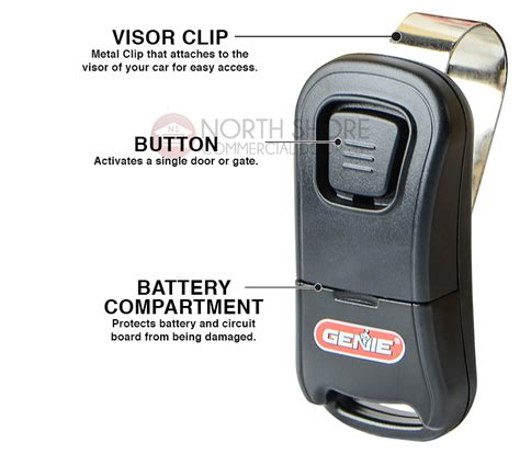 Genie Garage Door Opener Remote Manual Genie Intellicode Git 1 One Button Remote 33069r
