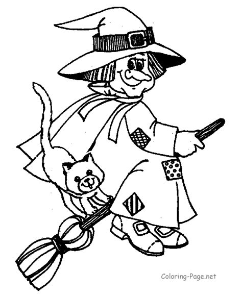 halloween coloring pages witch on broom halloween coloring page witch on broom