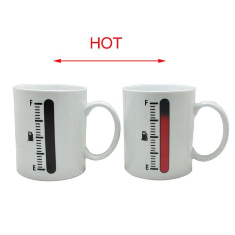 Thermometer Magic newest lovely exquisite style tank mug magic temperature sensor coffee cup thermometer mug