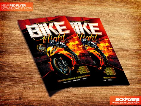 Bike Night Flyer Template Psd By Industrykidz On Deviantart Bike Flyer Template Free