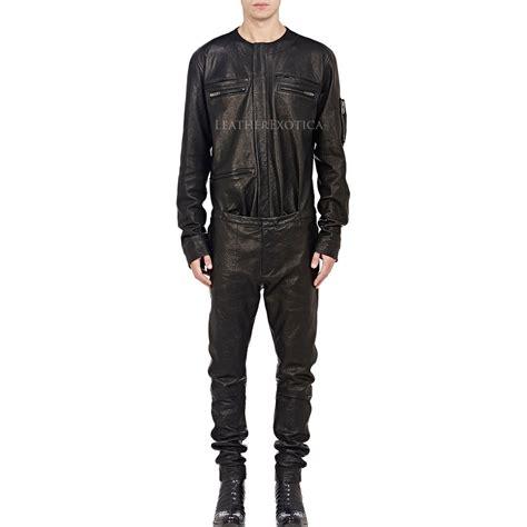 cool style shirt  leather jumpsuit  men