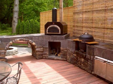 Outdoor Kitchen Designs With Pizza Oven Outdoor Kitchen With Oven Kitchen Decor Design Ideas