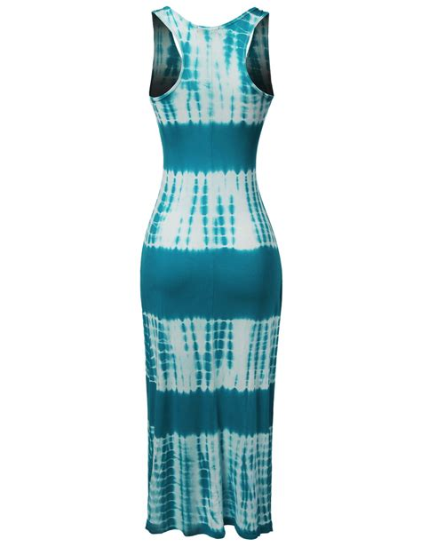 W 09new Zaenab Maxi Jersey fashionoutfit s soft stretch racerback bamboo tie dye jersey maxi dress ebay
