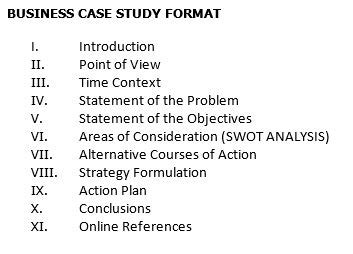 business plan format case study please help me draft a business case study as per