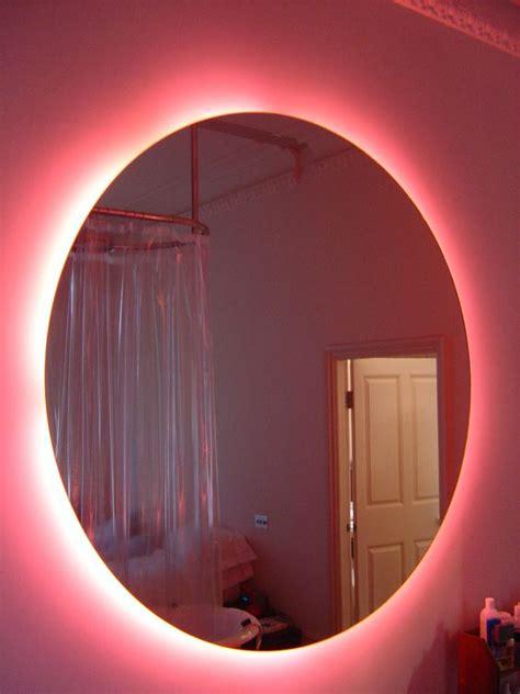 pink bathroom mirror pink neon bathroom mirror this is kool would be to