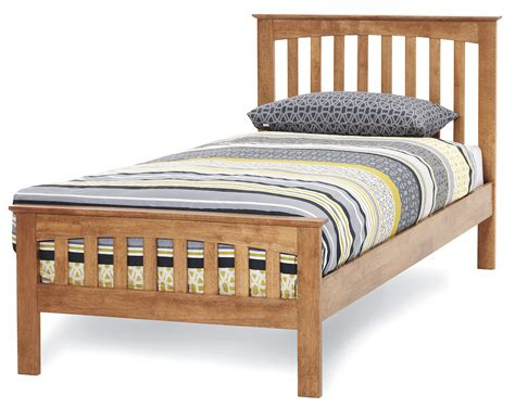 Bed As A by Amelia Honey Oak Finish Bed Frame Custom Size Beds