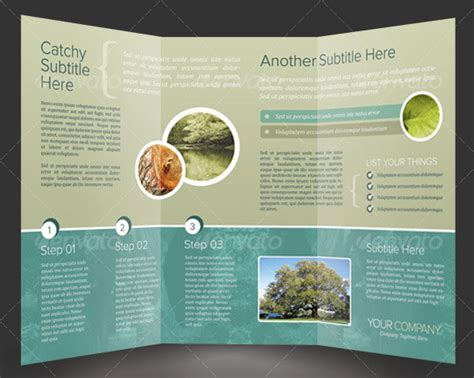 tri fold brochure template indesign images