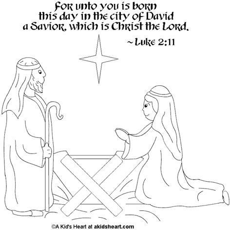 Christmas Coloring Pages With Bible Verses | christmas coloring page