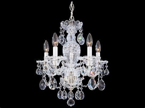 Schonbek Mini Chandelier Schonbek Sterling Five Light 16 Wide Mini Chandelier 2999