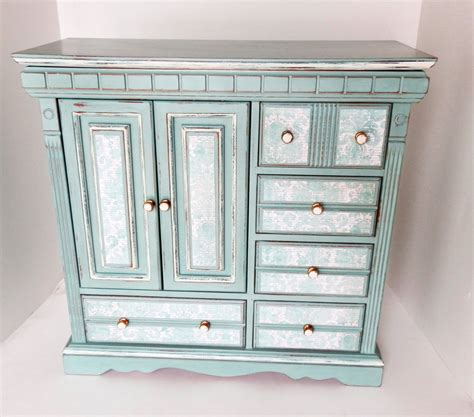 large jewelry chest armoire large upcycled jewelry box jewelry chest ladies girls jewelry