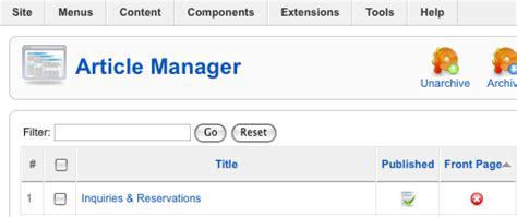 joomla tutorial article manager content management joomla tutorial