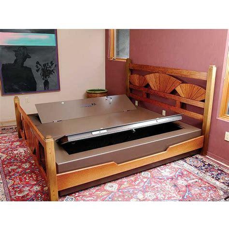 bed safe bed bunker king double bed safe hiding places pinterest
