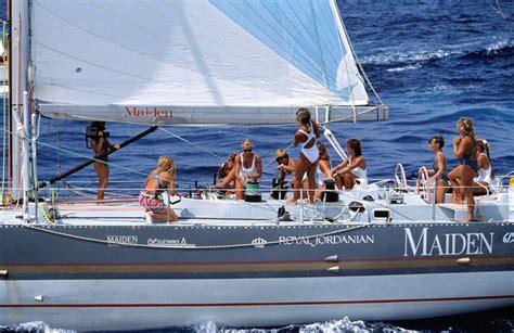 round sailboat tracy edwards is sailing around the world to improve girls
