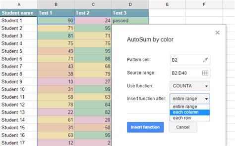 count cells by color count cells by color in sheets