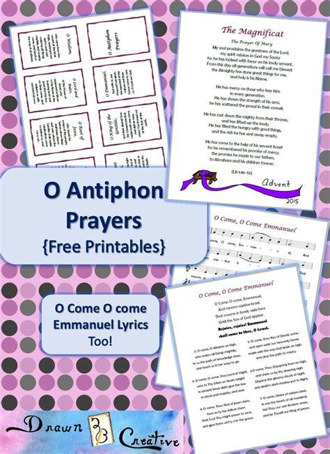 O Antiphons {Free Printables}   Drawn2BCreative