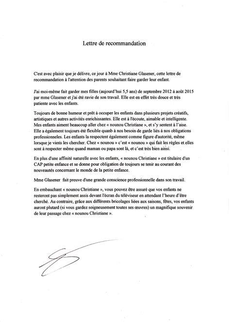 Lettre De Recommandation Assistant Maternelle Lettres De Recommandation Assistante Maternelle Agr 233 233 E Le De Nounouchristiane