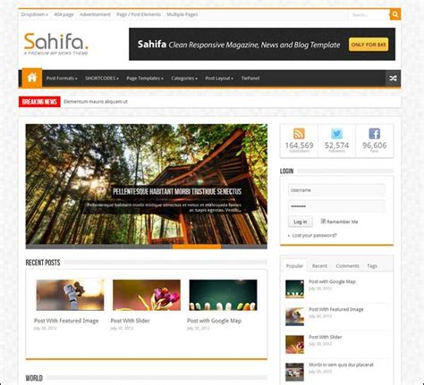 sahifa theme html 20 serious alternatives to custom wordpress themes