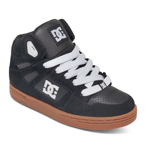 kid high top shoes dc shoes kid s 8 16 rebound high top shoes 302676b ebay