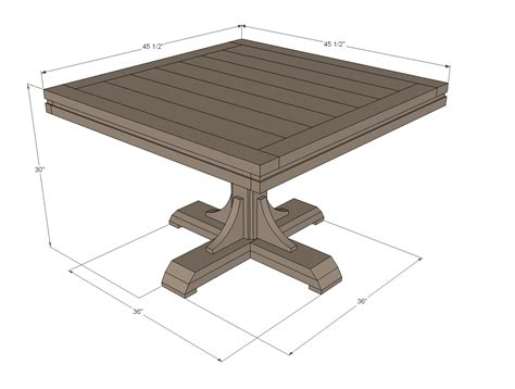 square pedestal table