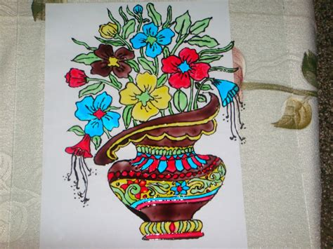 Glass Painting Flower Vase welcome flower vase glass painting