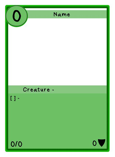 tcg card template speed air creature template for chions duel tcg by