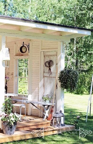 shabby chic garden shed pictures   images