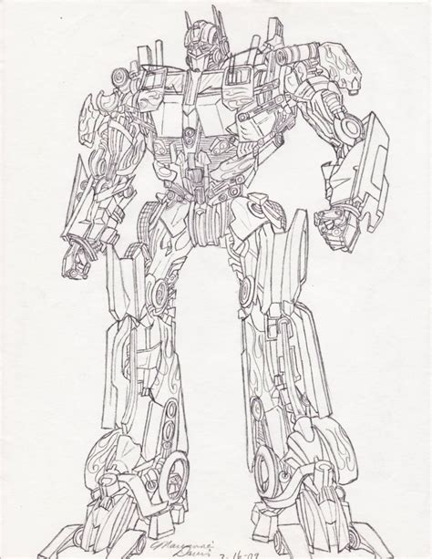 Transformer Wall Stickers optimus sketch by aetheriumdreams on deviantart