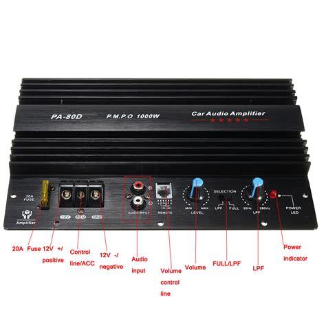 Power Lifier Audio Seven 12v 1000w mono car audio power lifier powerful bass subwoofers sale banggood