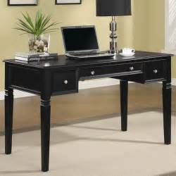 Home Desk Table Transitional Black Wood Computer Desk Office Furniture