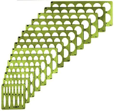 alvin large series ellipse template set of 15 3903 02