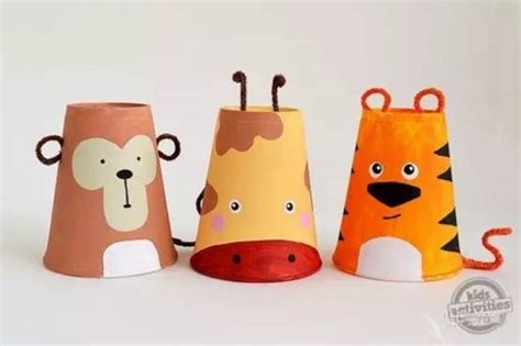 paper cup animals craft paper cup craft animal ideas and craft projects