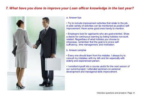 top 7 loan officer questions answers