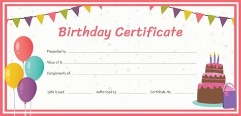 birthday gift card templates free 77 creative custom certificate design templates free