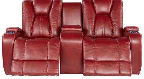 kingvale power reclining sofa 1 379 99 kingvale red power reclining console loveseat