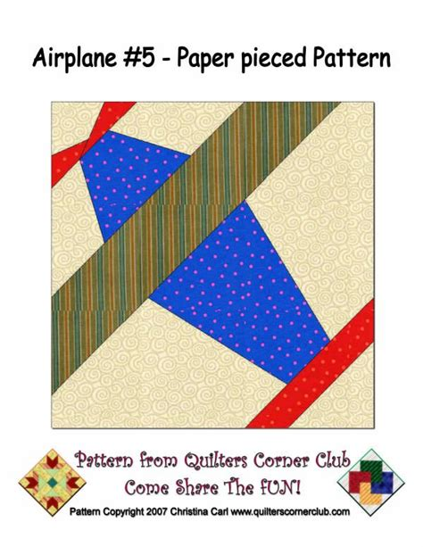 pattern paper airplane lots of free paper piecing airplanes and more quilt