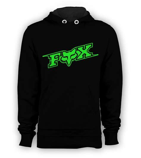 Sweater Hoodie Dmx Racing Sport fox racing green logo pullover hoodie bmx skateboard x