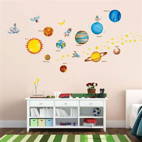 wandtattoo kinderzimmer planeten wandsticker wandtattoo planeten sterne kinderzimmer