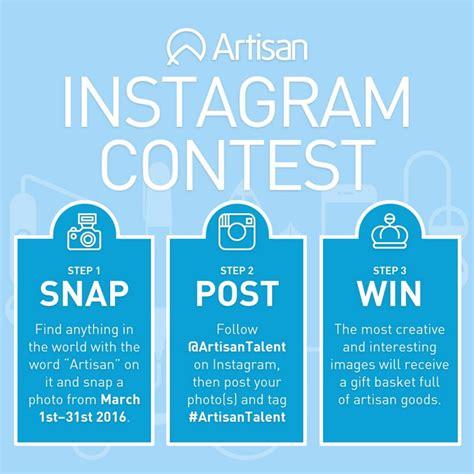 Instagram Giveaway Tips - artisan instagram contest