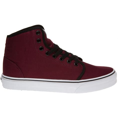 cheap mens sneakers mens vans 106 hi sneakers black maroon cheap