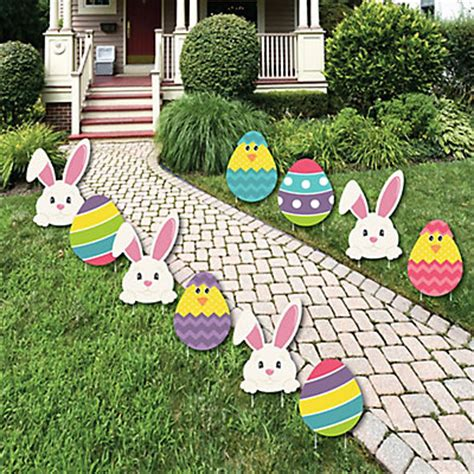 hippity hoppity easter bunny & egg yard decorations
