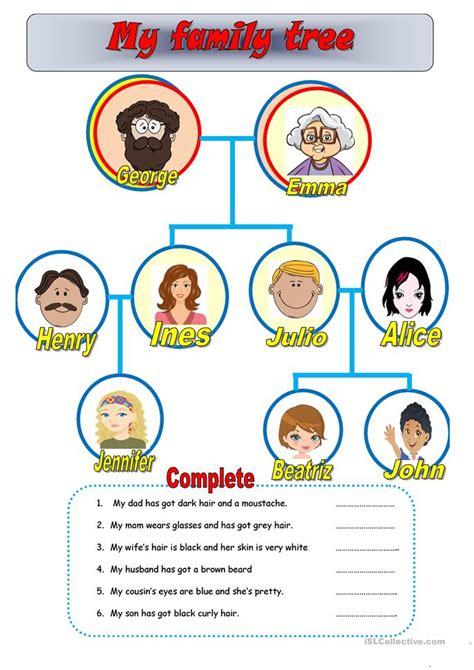 printable family tree esl my family tree worksheet free esl printable worksheets