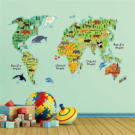 Wandtattoo Kinderzimmer Weltkarte by Wandsticker Weltkarte Mytoys