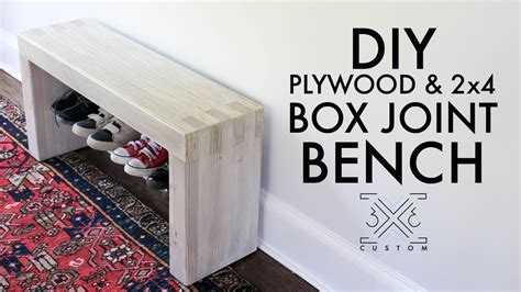 diy plywood bench diy plywood and 2x4 box joint bench without cutting