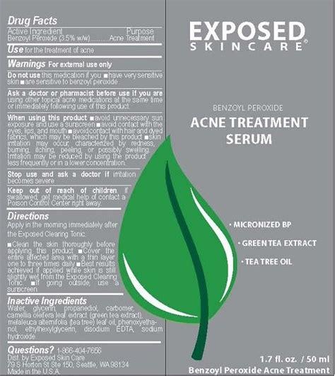 Serum Ats acne treatment serum gel halogent llc dba exposed skin