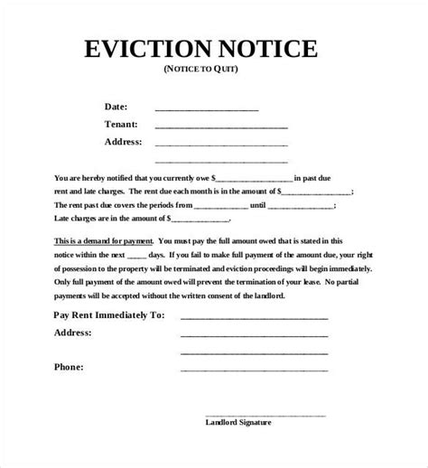 37 Eviction Notice Templates Doc Pdf Free Premium Templates Free Printable 30 Day Eviction Notice Template