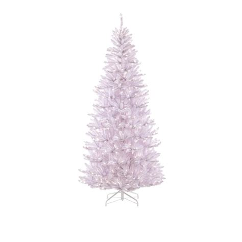 7 fr martha stewart slim christmas tree martha stewart living 7 5 ft pre lit white slim fir artificial tree with 650 clear