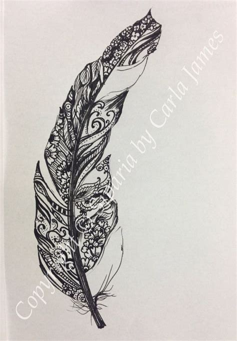 tattoo feather drawing feather drawing in black ink patterns design and ink