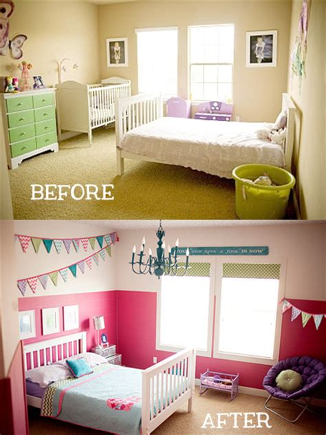 room before and after girls bedroom makeover